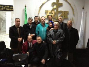 One of four groups of Algerian Local Radio Managers.
