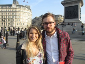 Shona and comedian Iain Stirling. Is the Scottish Referendum funny?